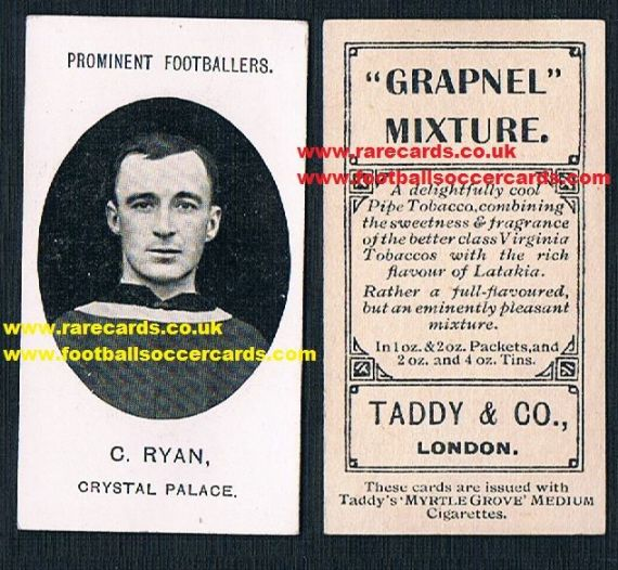 1908 Footnote Taddy Crystal Palace Ryan